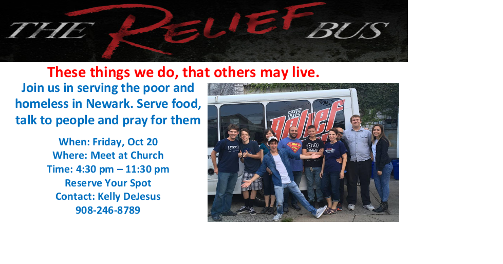 Relief Bus on October 20