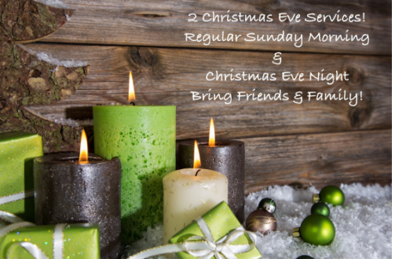 This year Gateway will be having Two Christmas Eve Services & You are Invited!